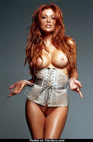 Angelica Bridges - Splendid American Red Hair with Splendid Bare Fake Boobs (Porn Pic)
