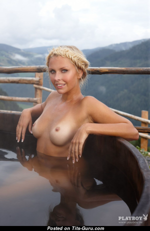 Denise Cotte - Exquisite Topless German Blonde with Exquisite Naked Real Boobie (Hd Porn Pic)