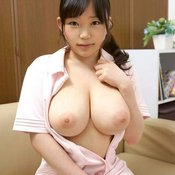 Mikoto Mochida - wonderful woman with huge natural boob pic