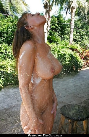 Image. Wet naked hot woman with big tots picture