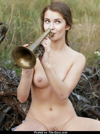 Image. Nude awesome female with natural breast image