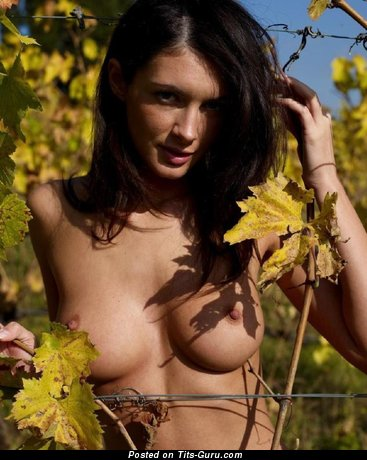 Nude amazing woman with medium breast pic