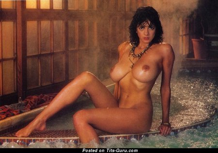 Image. Roberta Vasquez - sexy topless brunette with big natural boobies and big nipples vintage