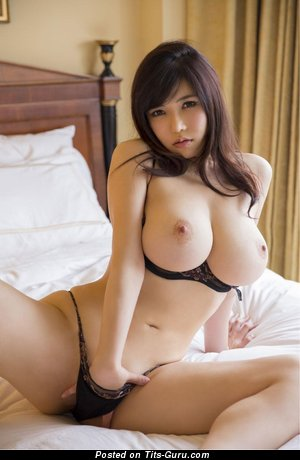 Image. Sexy nude asian brunette with big natural tits image