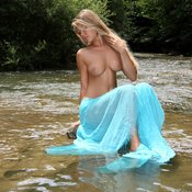Wonderful lady with big natural breast photo