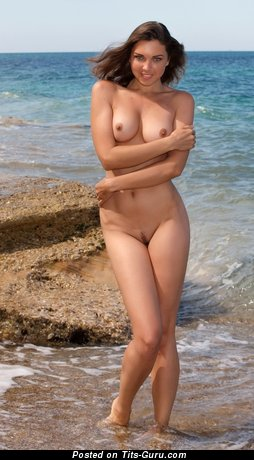 Image. Nude nice woman with medium natural boobies pic