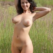 Hot female with medium natural boobs image