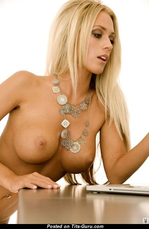 Alyssa Marie - Lovely American Playboy Blonde with Lovely Defenseless Round Fake Med Chest (Hd Porn Picture)
