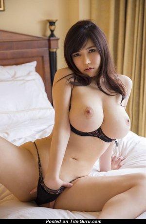 Anri Okita - Stunning Topless Japanese, British Brunette Girlfriend & Pornstar with Stunning Open Regular Boob (Hd Porn Wallpaper)