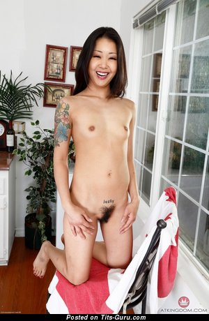 Saya Song - sexy naked asian brunette with small natural tittes image