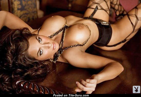 Ashley Dupre - Dazzling Playboy Brunette with Dazzling Bald Silicone Tots (Sexual Picture)