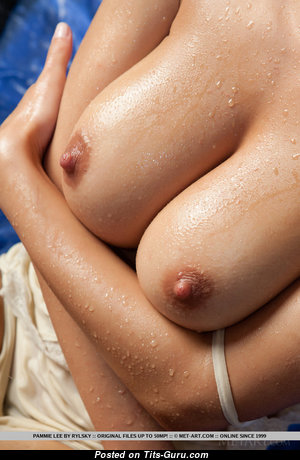 The Nicest Topless & Wet Babe with The Nicest Bald Real Dd Size Boobys (Sex Pix)