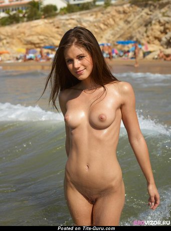Image. Nude wonderful girl with medium natural tots image