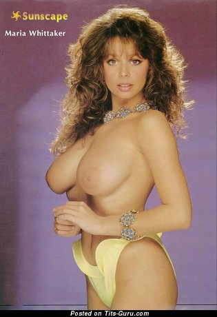 Image. Maria Whittaker - sexy naked brunette with medium natural boobies vintage