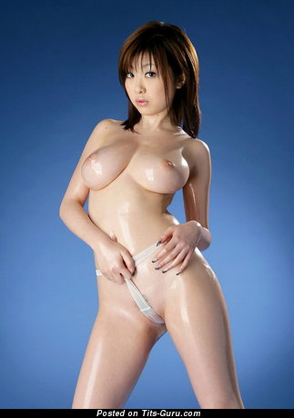Image. Rio Hamasaki - sexy nude asian brunette with medium natural boob photo