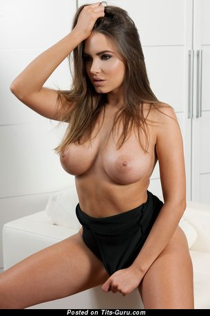 Sabine Jemelijanova - sexy nude wonderful woman with medium natural breast picture