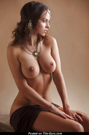 Image. Naked awesome lady with natural tits pic
