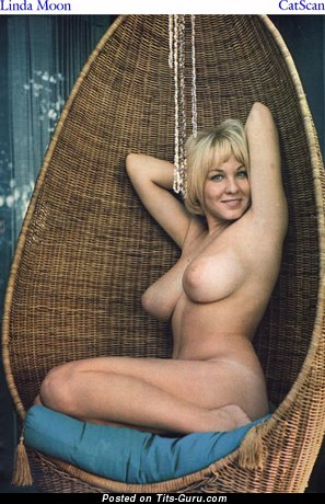 Linda Moon - nude amazing lady with medium natural boobs vintage