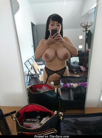 Image. Katie Doll - sexy topless brunette with big boobies selfie