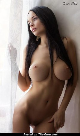 Image. Naked hot girl with big fake boobies picture