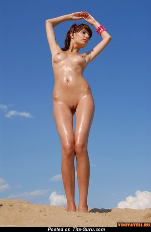 Image. Nude beautiful woman with medium natural tits image