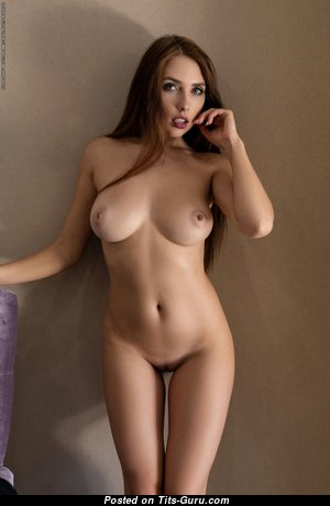 Niemira - Alluring Ukrainian Red Hair with Alluring Exposed Real Boobs & Big Nipples (Hd Xxx Picture)