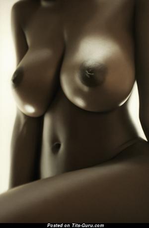 Splendid Ebony Girl with Splendid Exposed Mega Tittys (Sex Wallpaper)