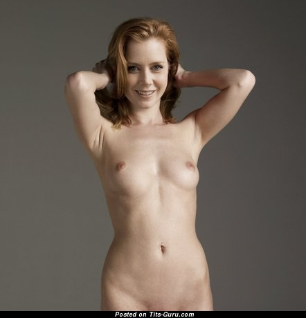 Amy Adams & Pretty Topless Italian Blonde & Red Hair Actress & Babe with Pretty Defenseless Natural Petite Tits & Enormous Nipples (Hd 18+ Photo)