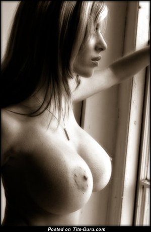 Image. Nude nice female with big fake tittes photo