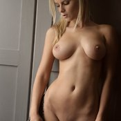 Blonde with medium natural breast image