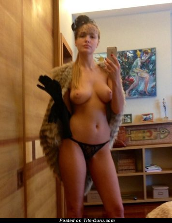 Image. Nude amazing lady with natural boob selfie