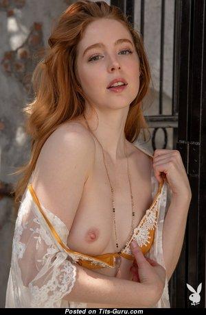 Erna O'Hara - Splendid Topless Playboy Red Hair Actress, Babe & Pornstar with Splendid Open Short Boobs & Weird Nipples is Undressing (Hd Sex Image)