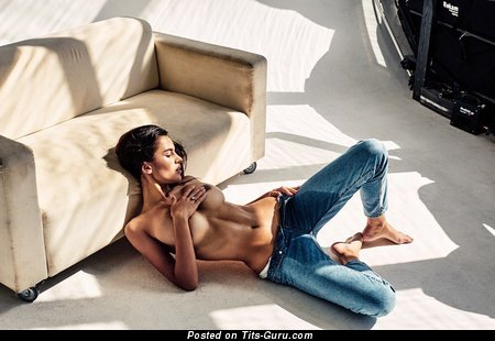 Sexy naked hot woman with medium boob photo