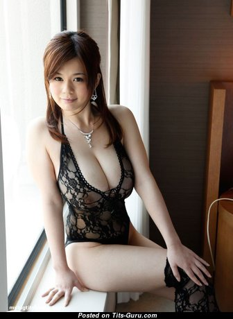 Airu Oshima - Magnificent Non-Nude Japanese Red Hair Actress & Pornstar with Magnificent Real D Size Jugs in Lingerie (Sexual Foto)