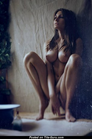 Eva Lunichkina - Handsome Brunette Babe with Handsome Naked Firm Knockers (Hd Sexual Wallpaper)