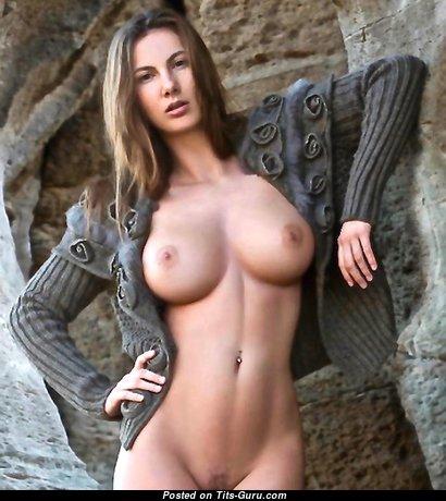 Connie Carter (anna Kolářová) - Marvelous Glamour & Topless Brunette with Long Nipples, Tan Lines is Undressing (Hd Xxx Photoshoot)