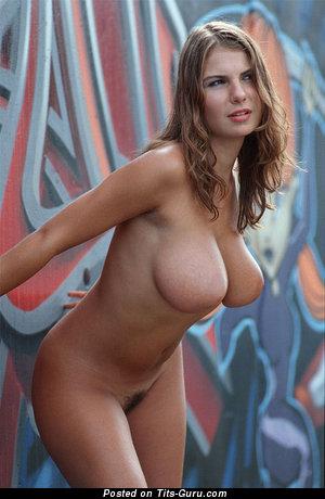 Image. Hot woman with big natural breast image