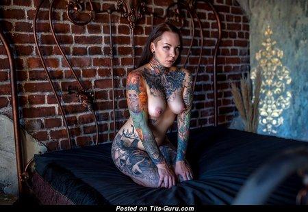 Дарья Смирнова - Elegant Brunette with Elegant Open Normal Tittys, Piercing & Tattoo (Hd Xxx Pix)