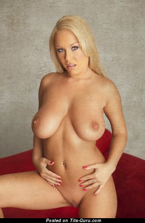 Image. Akissa - nude blonde with big natural boob picture