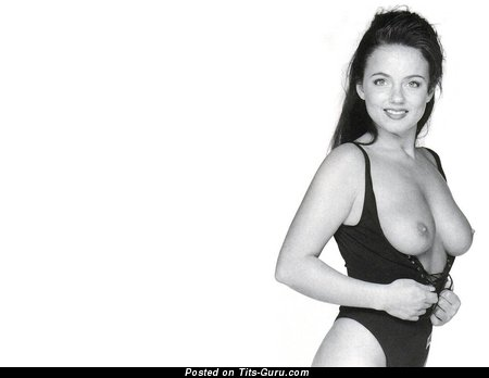Geri Halliwell - Pleasing British Red Hair Actress with Pleasing Bare Natural Med Boobs (Sex Pix)