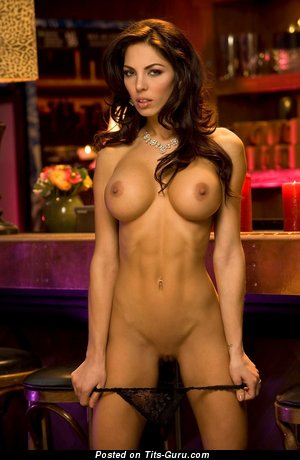 Image. Adrianna Meehan - naked brunette with big fake tittys image