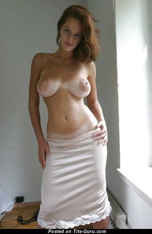 Image. Sexy naked wonderful woman with medium natural boobies picture