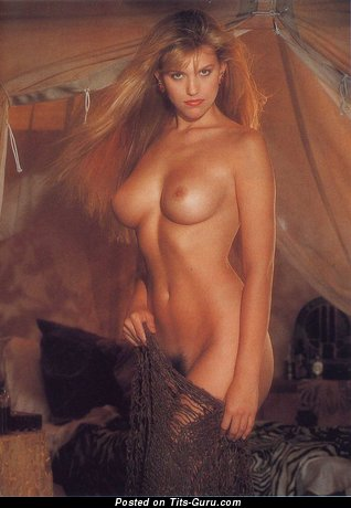 Lisa Matthews - Fascinating Topless Babe with Fascinating Bare Real Firm Balloons & Big Nipples (Vintage Xxx Image)