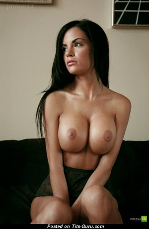 Image. Beautiful girl with big fake breast picture