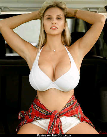 Anastasia Gorbunova - Fascinating Non-Nude & Glamour Blonde Babe with Fascinating Real Sizable Tittes (Hd Sexual Pic)