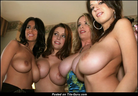 Jaime Hammer, Erica Campbell, Maggie Green, and Jana Defi & Graceful Topless Blonde, Red Hair & Brunette Babe with Graceful Defenseless Real Jugs (Sexual Pix)