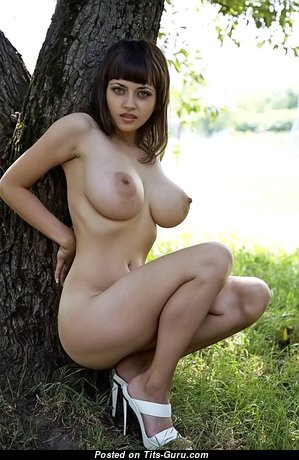 Alluring Babe with Alluring Bare Real Soft Busts (Sexual Photoshoot)