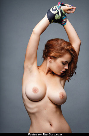 Lidia Savoderova - Hot Russian Red Hair Babe with Hot Nude Real Medium Sized Titties (Sex Picture)