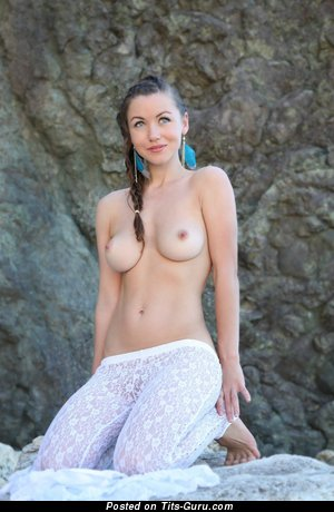 Image. Naked amazing woman with medium natural boobs picture