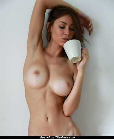 Graceful Brunette with Graceful Bald Sizable Melons (Hd Sexual Picture)